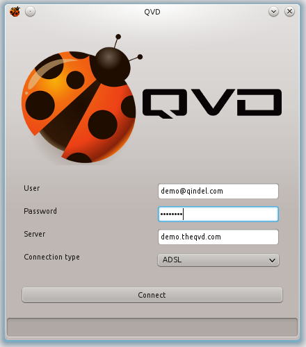 QVD Client screenshot