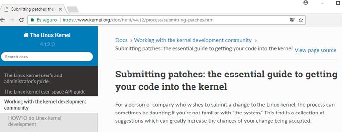 Guía parches al kernel