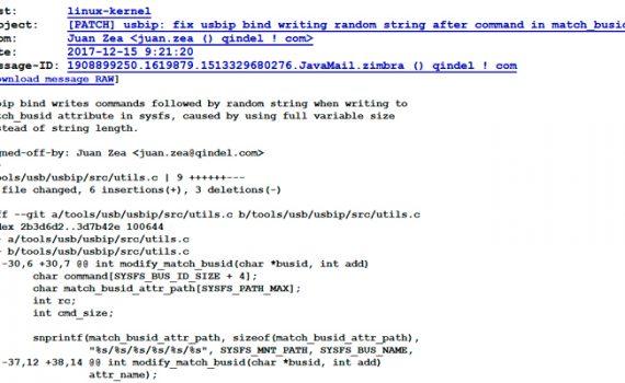 parche al kernel de linux